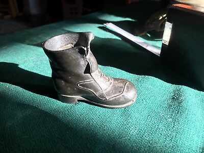 VINTAGE/ANTIQUE MINIATURE  2 1/4-inches high METAL BOOT