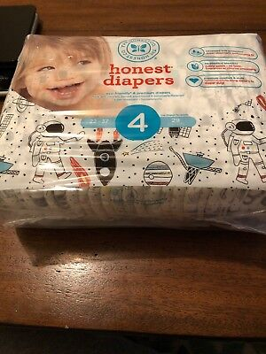 The Honest Company Diapers Size 4 Space Print 29 Count