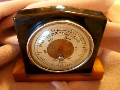 Bakelite CATALIN Barometer beautiful butterscotch art deco! Taylor BAROGUIDE USA