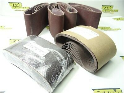 """35 New Assorted Abrasive Belts 3-1/2"""" X 15-1/2"""" 80, 120 & 320 Grits"""