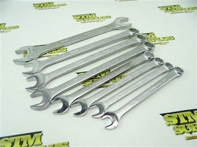 """Nice 8Pc Lot Williams Superwrench Machinists Wrenches 1/2"""" To 1"""""""