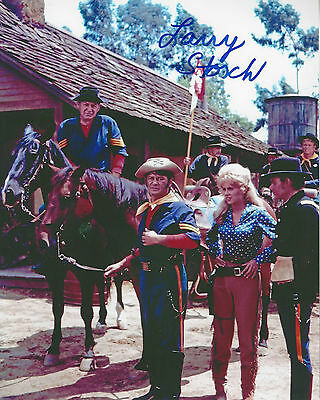 F Troop Agarn Larry Storch  autographed real nice team 8x10 color photo