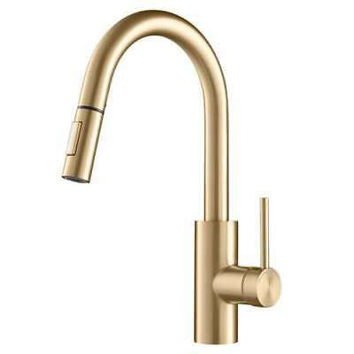 Kraus Oletto Single Handle Pull Down Gooseneck Sink Faucet, Gold (Open Box)