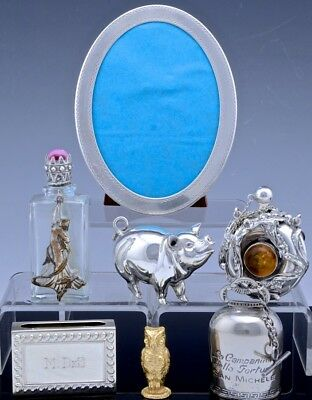 Sweet Estate Lot Sterling Silver Picture Frame Perfume Bottles + Tiffany Cartier