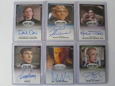 2014 Star Trek Aliens Autograph Card Set / 76 Total Cards Whoopi, Nimoy, Ryan