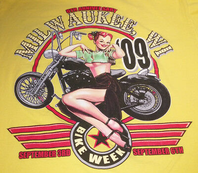 "Milwaukee Harley Davidson Bike Week T-Shirt 2009-"" Excellent Condition"""