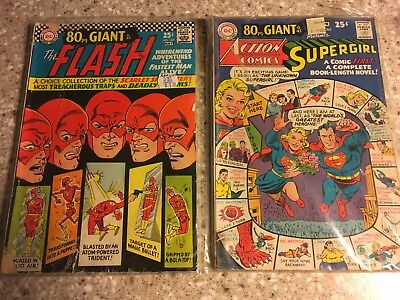 Dc 80 Page Giant Action Comics #360 Presents Supergirl & The Flash No 169 1960's