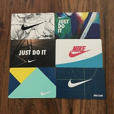 (6) NIKE Gift Cards Collectible NEW 2018 No Value