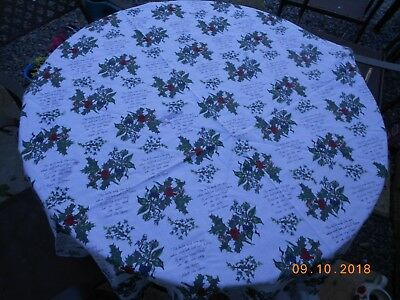 Portmeirion Holly And Ivy Circular Cotton Table Cloth