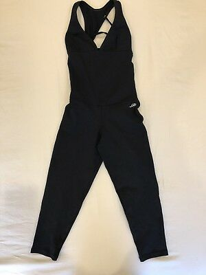 Black Thick Lucra Bodysuit Open Back Size 8 To 10