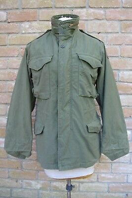 Vintage 1980 US Army 172nd Infantry Brigade M-65 Jacket By John Ownbey; XSMALL