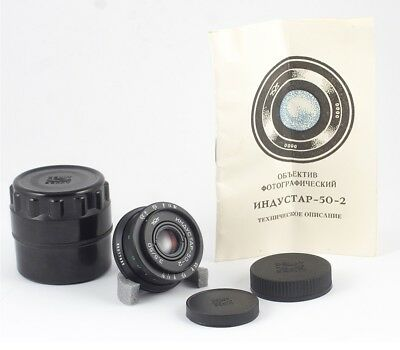 INDUSTAR 50-2 F/3.5 50mm CANON SONY MTF 4/3 SAMSUNG NX FUJIFILM FX MINT PASSPORT