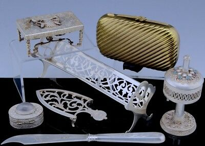 Estate Lot Judaic American Russian & Chinese Sterling & Solid Silver Minis Etc