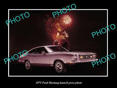 Old Large Historic Photo Of 1975 Ford Mustang Coupe Launch Press Photo 1