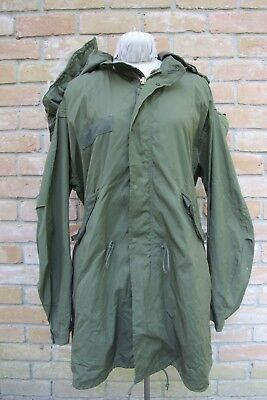 Vintage 1980 US Army FISHTAIL Parka w/ 1977 Hood By So-Sew Styles; LARGE; Good!