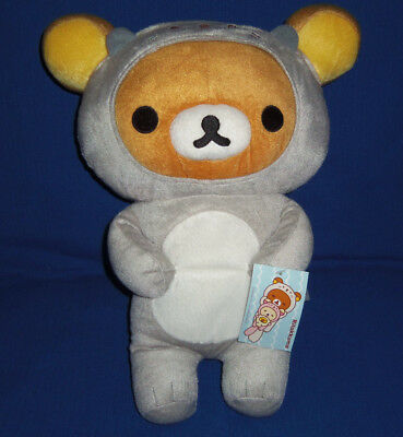 New with Tags Rilakkuma Grey Sea Otter Costume Plush SAN-X  16-inches tall