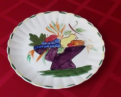 "Vtg Blue Ridge Rare 12"" Round Platter Plate Hand Painted Fruit Bowl Pattern"