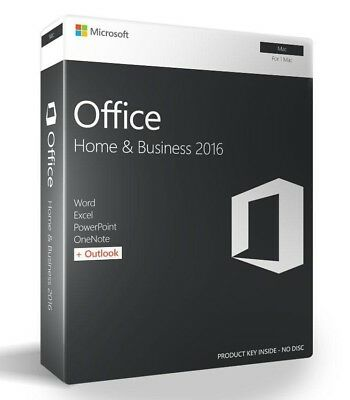 Brand New Microsoft Office Home and Business 2016 for Mac
