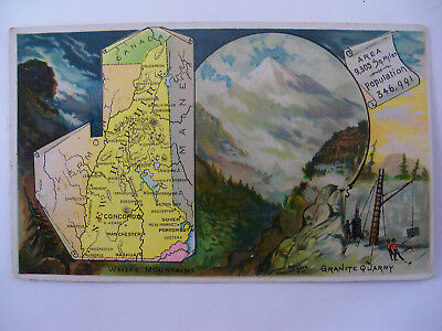 """Arbuckle Brothers Ariosa Coffee Trade Card """"United States NEW HAMPSHIRE""""  #70"""