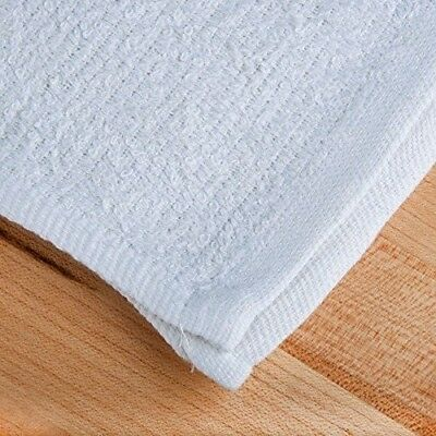 NEW WHITE TERRY TOWELS BAR MOPS SIZE 16X24 1dozen