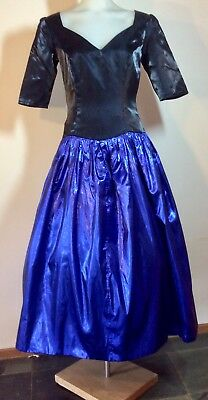 Vintage 1980s FORMAL DRESS Bridesmaid size 10 DRESS UP, Themed Party, Night OUT