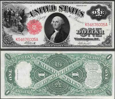 1917 $1~Large Size~Legal Tender~~Crisp Almost Uncirculated ~~