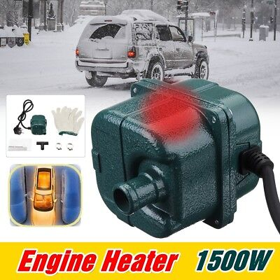 1500W Auto Car Engine Heater Parking Coolant Preheater 220V 1.5Kw 70°C Fits All