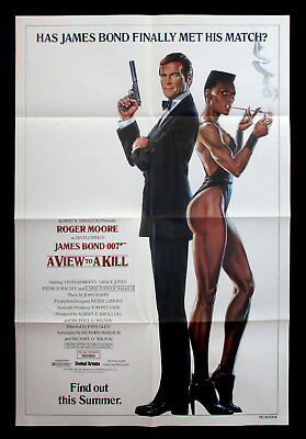 A VIEW TO A KILL original advance one sheet JAMES BOND 007 ROGER MOORE 1985