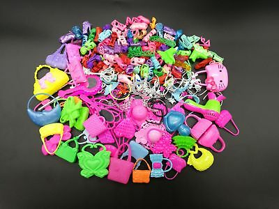 40pcs/Lot Party Daily Wear Outfits Shoes Bag Jewelry for Barbie Doll Random Gift