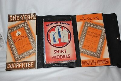 Antique - Salesman Samples - Rosecliff-Quaker - 50 Fabric Samples -Men's Shirts