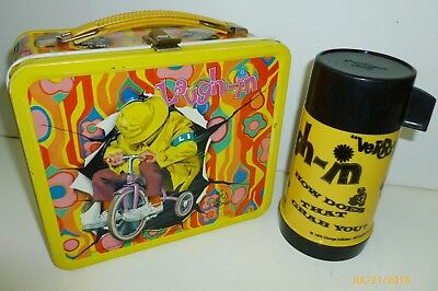 1970 Vintage LAUGH-IN metal Lunch Box & matching thermos