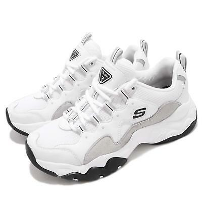 Skechers D Lites 3 White Light Grey Men Casual Chunky Shoes Sneakers 999878-WLGY