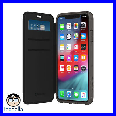 GRIFFIN Survivor Clear Wallet drop protection case / card slots - iPhone XS Max