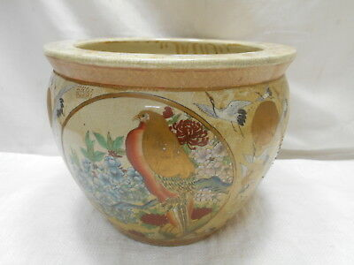 Vintage Satsuma Ware Japanese Porcelain Collectable Vase Bowl Hibachi #14