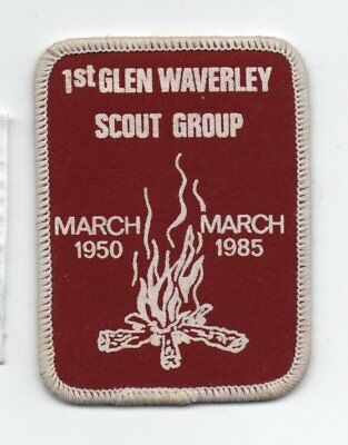 "Scout Badge -""1ST. Glen Waverley Scout Group"" March 1950 - March 1985."