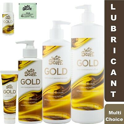 Wet Stuff GOLD Sex Personal Lubricant Pump Bottle Tube Sachet Toy Safe Lube