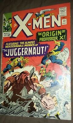 X-Men #12 - 1st App of Juggernaut, Origin of Professor X - Marvel 1965 - F/VF