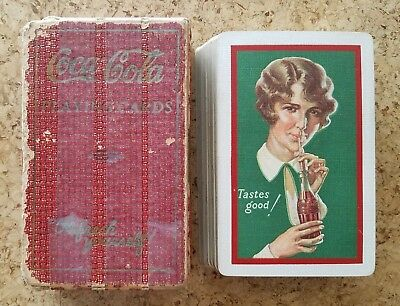 1928 RARE WHITE BORDER Coca-Cola Advertising Playing Cards - w/ JOKERl!!