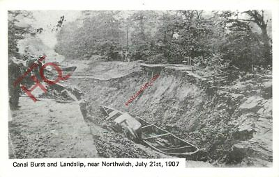 Picture Postcard: Canal Burst And Landslip, Near Northwich, 1907 (Repro)