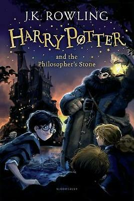 Harry Potter and the Philosopher's Stone by J.K. Rowling Paperback Book Free Shi