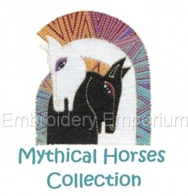 Mythical Horses Collection - Machine Embroidery Designs On Cd