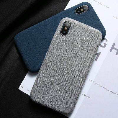 For iPhone XS MAX 7 8Plus Cloth Texture Case Soft TPU Silicone Shockproof Covers