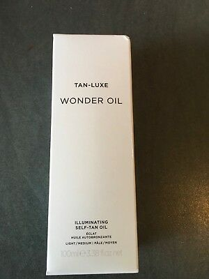 TAN-LUXE WONDER OIL Light/Medium Self Tanning 100ml BNIB