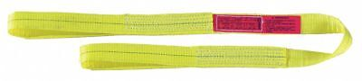 """2 ft. Flat Eye and Eye - Type 3 Web Sling, Polyester, Number of Plies: 2, 2"""" W"""