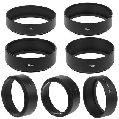 49/52/55/67/77mm Long Focus Lens Hood Screw-In Mount For Canon DSLR SLR Camera