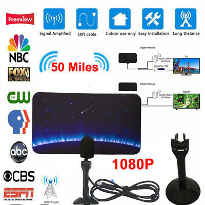50 Mile Range Antenna TV Digital HD Skylink 4K Antena Digital Indoor HDTV 1080p