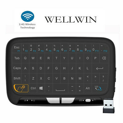 H18 Full Touchpad Mini Keyboard Wireless Air Mouse for PC Android Box Smart TV