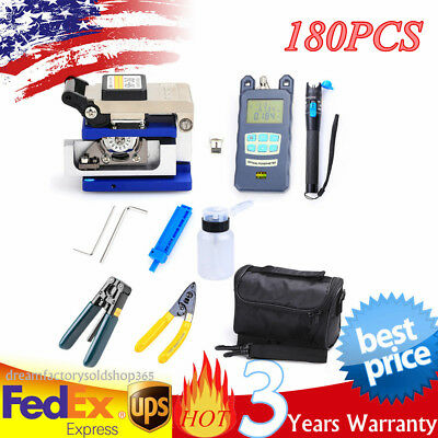18 in 1 Fiber Optic FTTH Tool Kit FC-6S Fiber Cleaver Peel&Optical Power Meter