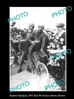 Old Large Historic Cycling Photo, 1911 Tour De France Winner Gustave Garrigou 2