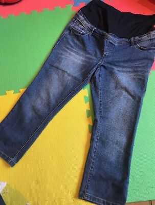 Red Herring Cropped Maternity Jeans Size 12